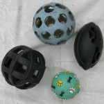 Balls: soft blue indoor, giggle ball, tough tyre balls