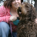 2 Brunettes: Labradoodle and Human